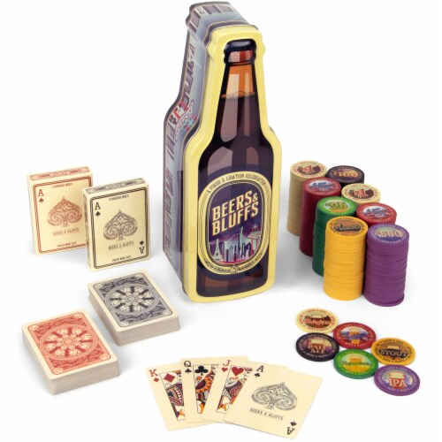 Beers & Bluffs Poker Chip Set Perspective: front