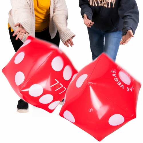 Inflatable Casino Dice, 2-pack Perspective: front