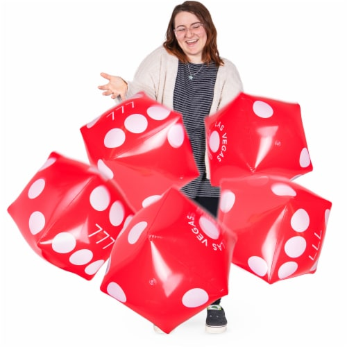 Inflatable Casino Dice, 5-pack Perspective: front