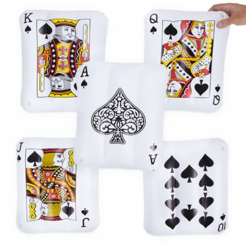 Inflatable Playing Cards, 5-pack Perspective: front