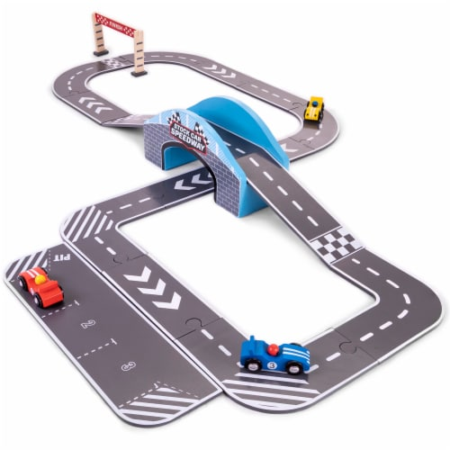 Stock Car Speedway Playset Perspective: front