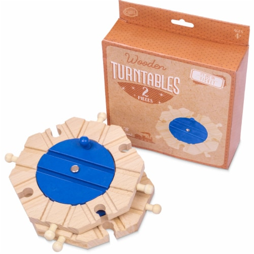 Train Track Turntables, 2-pack Perspective: front