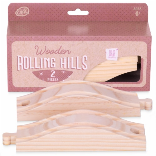 Rolling Hills Wooden Track, 2-pack Perspective: front