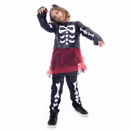 Spooky Skeleton Halloween Costume, Medium Perspective: front