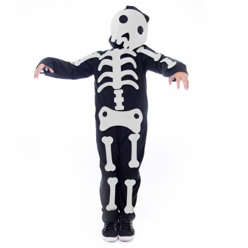 Make Your Own Skeleton Halloween Costume, Small Perspective: front