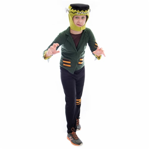 Flat-top Frankenstein Halloween Costume, Large Perspective: front