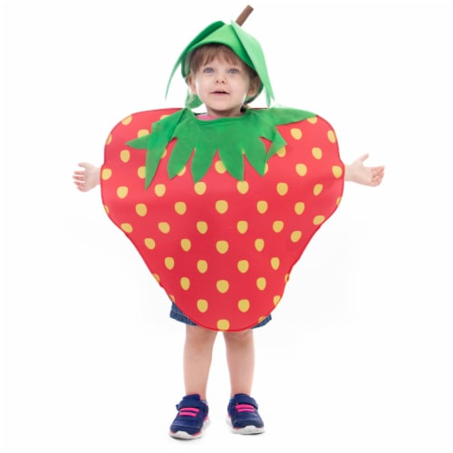 Sweet Strawberry Halloween Costume, Medium Perspective: front