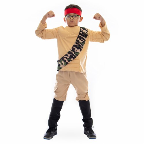 Jungle Fighter Halloween Costume, 8-10 Perspective: front