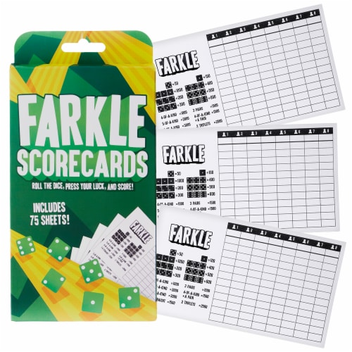 Farkle Scorecards, 75 Sheets Perspective: front