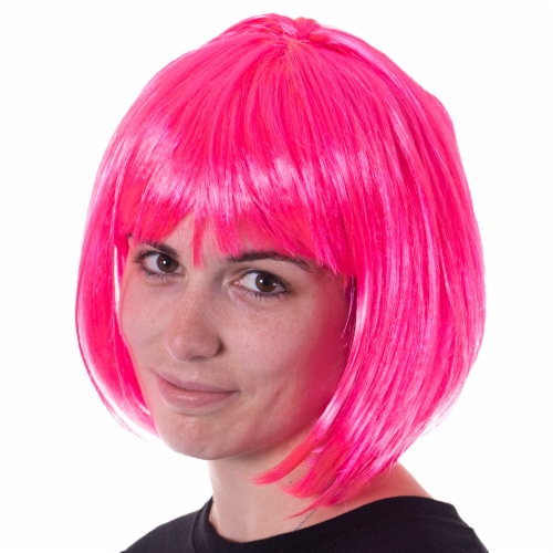 Pink Bob Costume Wig Perspective: front
