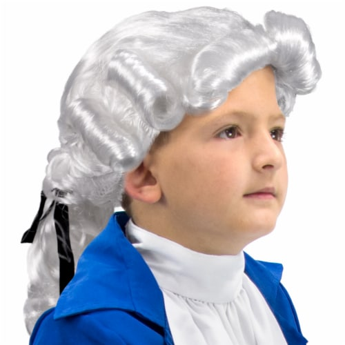 Colonial Powdered Wig, Child Size Perspective: front