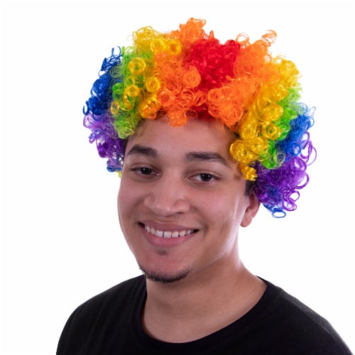 Clown Afro Wig Perspective: front