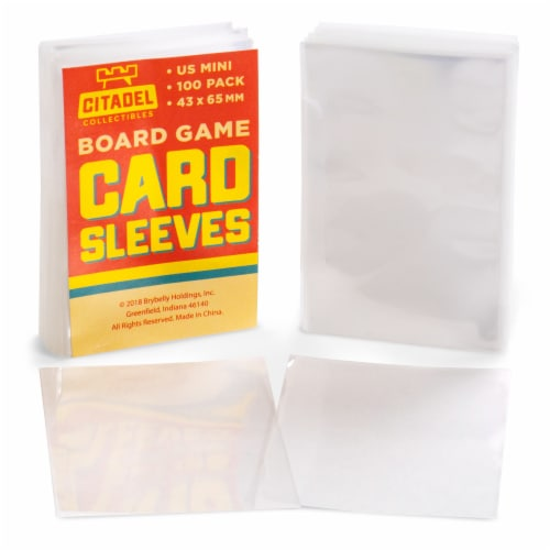 American Mini Board Game Sleeves, 100-pack Perspective: front