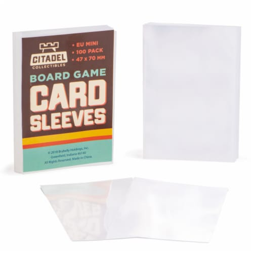 Eurpoean Mini Board Game Sleeves, 100-pack Perspective: front