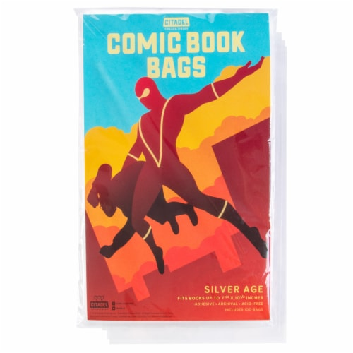 Silver Age Comic Book Bags, 100-pack Perspective: front