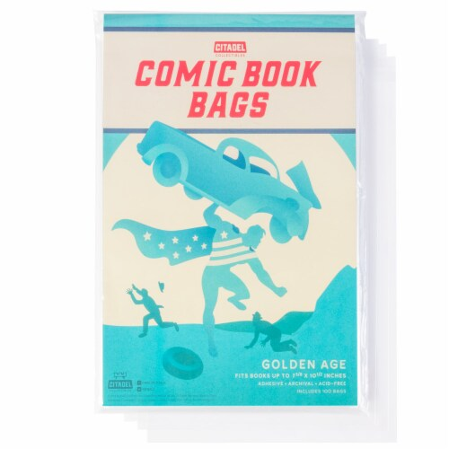 Golden Age Comic Book Bags, 100-pack Perspective: front