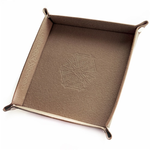 9'' Folding Dice Tray Perspective: front