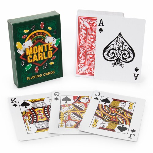Monte Carlo Poker Decks Perspective: front