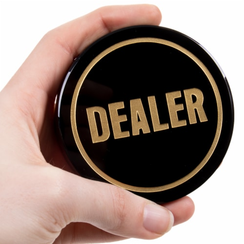 Crystal Dealer Button Perspective: front