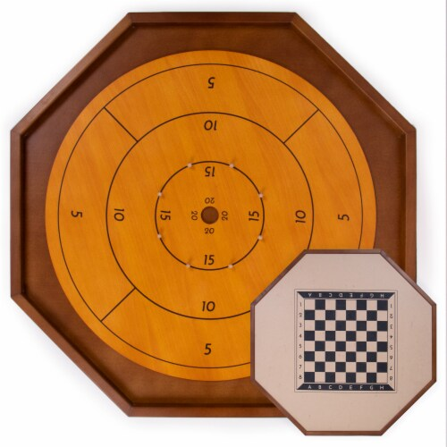 Tournament Crokinole Board, 30-inch Perspective: front