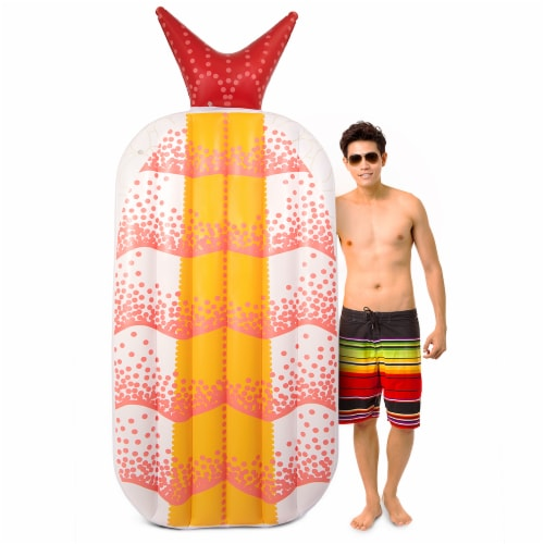 Shrimp Sushi Inflatable Pool Float Perspective: front