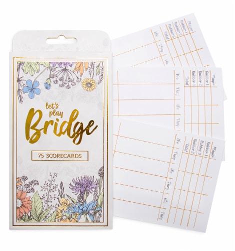 Bridge Scorecards, 75-pack Perspective: front