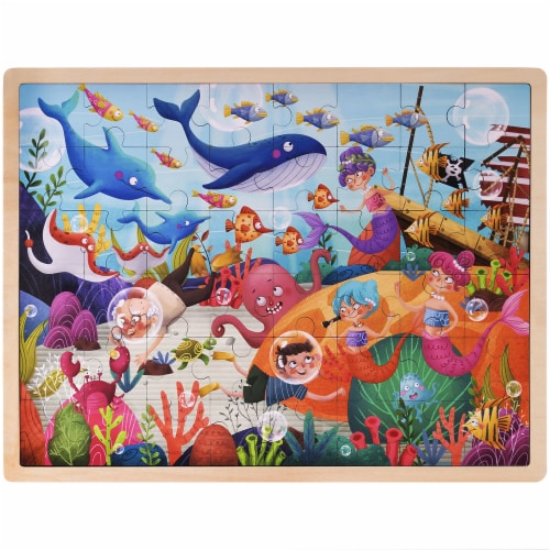 Ollie and Mr. Noodle: Deep Sea Diving Jigsaw Puzzle Perspective: front