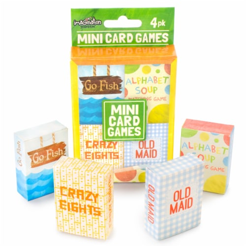 Mini Kids Card Games 4-pack Perspective: front