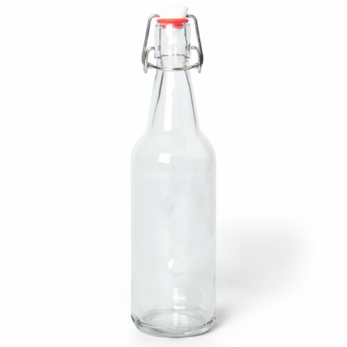 16.9 Oz Clear Glass Bottles Perspective: front