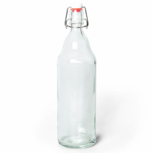 33 Oz Clear Glass Bottles Perspective: front