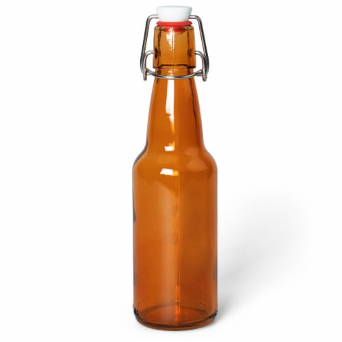 11 Oz Amber Glass Bottles Perspective: front