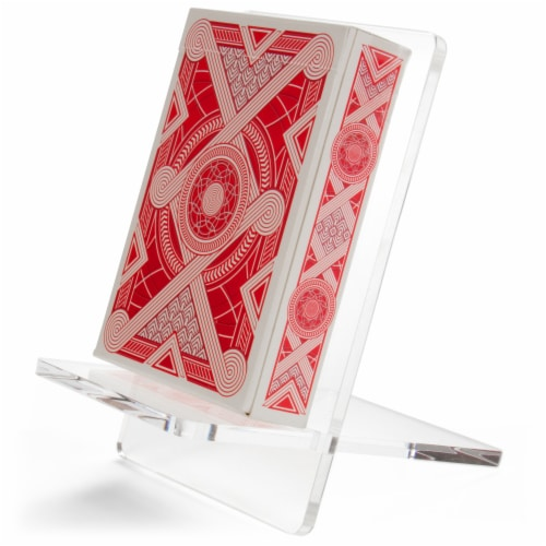 Single Deck Playing Card Display Stand Perspective: front