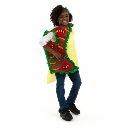 Taco Children's Costume, 10-12 Perspective: front