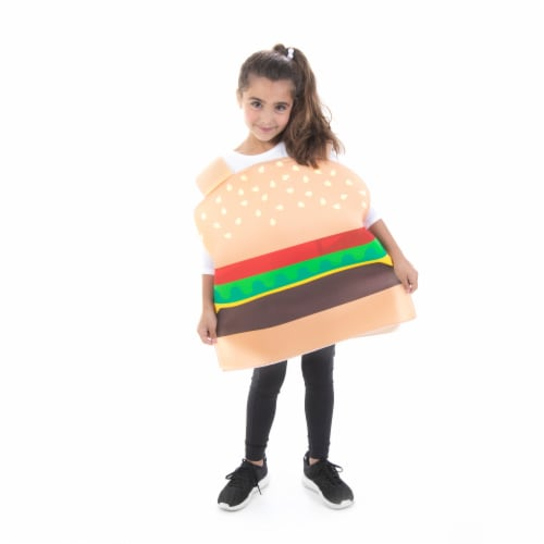 Burger Children's Costume, 10-12 Perspective: front