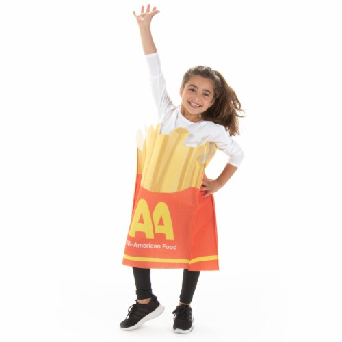 French Fries Children's Costume, 10-12 Perspective: front