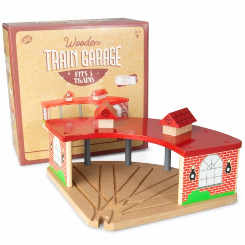 Wooden Train Garage Perspective: front