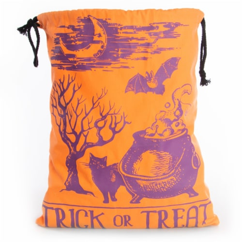 Canvas Trick or Treat Bag Perspective: front