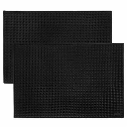 "18"" x 12"" Black Bar Mats, 2-pack Perspective: front"