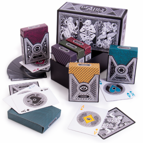 7 Deadly Sins Playing Card Box Set Perspective: front
