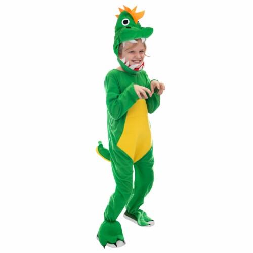 Jurassic Dinosaur Costume T-Rex Dino Suit, L Perspective: front