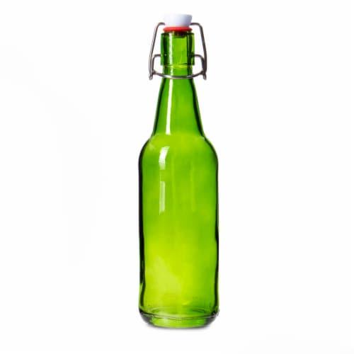 16 oz Green Grolsch Bottle Perspective: front