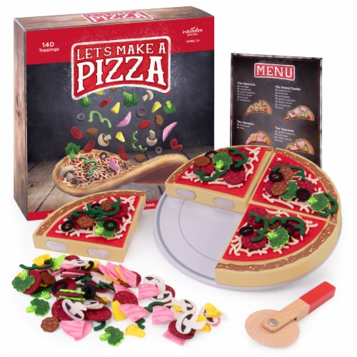 Let's Make a Pizza Playset with 140 Toppings Perspective: front
