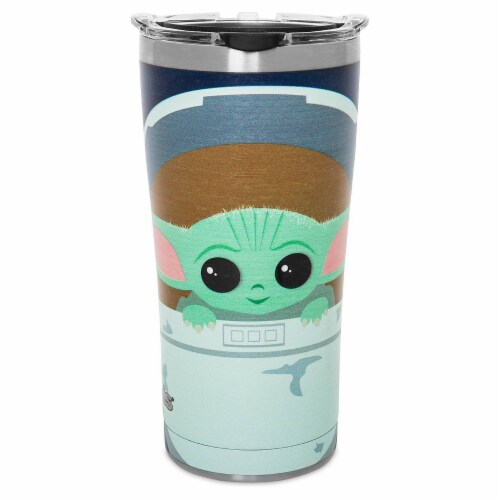Star Wars The Mandalorian Baby Yoda Cartoon Tervis Stainless Steel Tumbler Perspective: front
