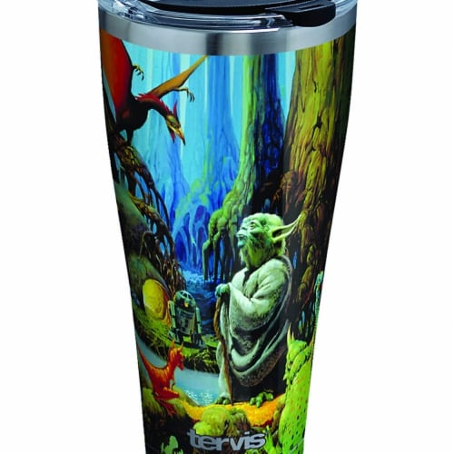 Star Wars 807806 Star Wars Empire 40th Anniversary Yoda Stainless Steel Tumbler - 20 oz Perspective: front