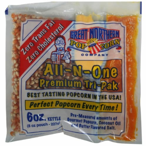 Great Northern Popcorn 1 Case (24) of 6 Ounce Popcorn Portion Packs Kit Cinema Perspective: front