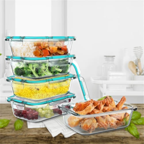 Classic Cuisine 83-141 Glass Food Storage Containers - Pack of 5 Perspective: front