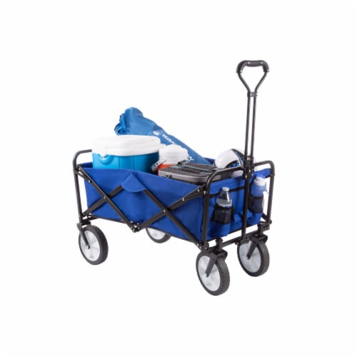 Wakeman 75-CMP1096 Folding Wagon Collapsible All-Terrain Utility Pull Cart with Telescoping H Perspective: front
