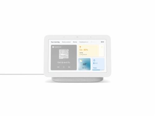 Google Nest Hub Chalk Generation 2 - White Perspective: front