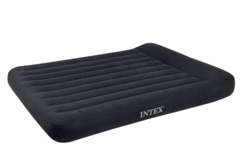 Intex Dura Beam Pillow Rest Classic Airbed with Built-In Pump, Queen (2 Pack) Perspective: front