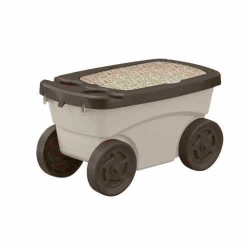 Suncast Portable 12.25 x 13-in Resin Multipurpose Garden Scooter Cart (Open Box) Perspective: front